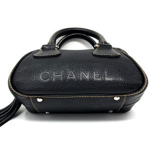 4ba57c029cc5 Chanel Small Black Pebbled Leather LAX Satchel